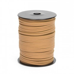 Cordón náutico cuero natural 3.5 mm - Carrete 50 mts