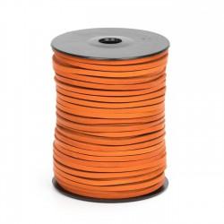 Cordón náutico cuero naranja 3.5 mm - Carrete 50 mts