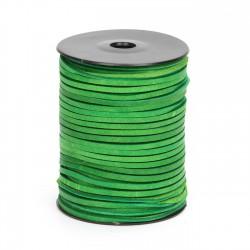 Cordón náutico cuero verde 3.5 mm - Carrete 50 mts