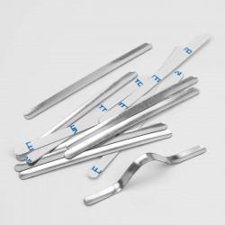 1000 Tiras adhesivas metálicas de alambre nasal para mascarillas, para el puente de la nariz