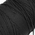 500 mts cordón elástico 3 mm flojo suave col. Negro