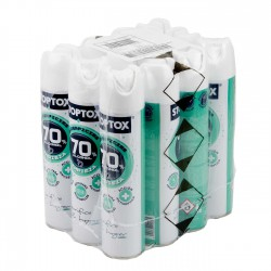 12x Spray aerosol desinfectante mascarillas, tejidos y superficies 70% Alc. STOPTOX 300 ml