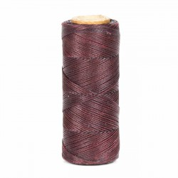 Hilo encerado 1 mm nylon (Poliamida 6.6) - Col. Granate - Bobina 100 mts