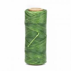 Hilo encerado 1 mm nylon (Poliamida 6.6) - Col. Verde claro- Bobina 100 mts