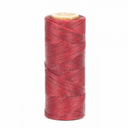 Hilo encerado 1 mm nylon (Poliamida 6.6) - Col. Rojo- Bobina 100 mts