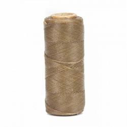 Hilo encerado 1 mm nylon (Poliamida 6.6) - Col. Crudo oscuro - Bobina 100 mts