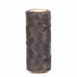 Hilo encerado 1 mm nylon (Poliamida 6.6) - Col. Marrón - Bobina 100 mts