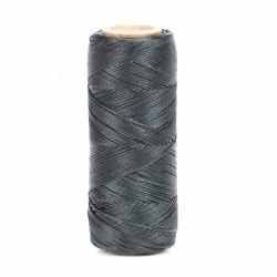 Hilo encerado 1 mm nylon (Poliamida 6.6) - Col. Verde Oscuro - Bobina 100 mts