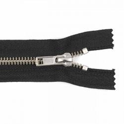 Cremallera CCA negra 12 a 18 cm metalica Cobre blanco (Niquel) malla 5
