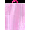 Bolsa plástico comercios asa lazo 45 x 65 cm