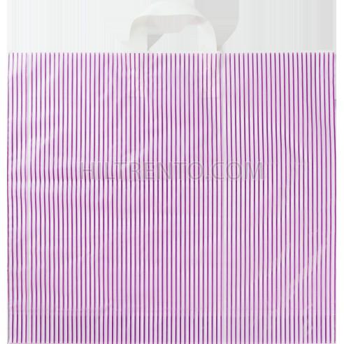 Bolsa plástico comercios asa lazo 50 x 50 cm