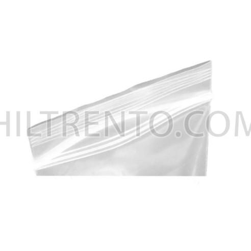 Bolsa transparente con banda de cierre